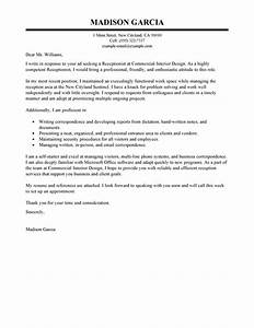 receptionist cover letter examples administration With example of a cover letter for a receptionist