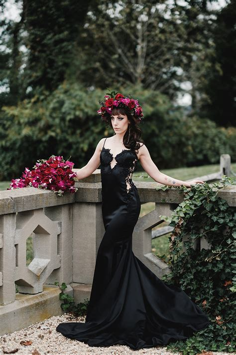 elegant gothic castle wedding with a black wedding 183 rock n roll