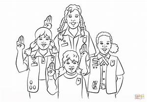 Girl Scouts Pledge Coloring Page Free Printable Coloring