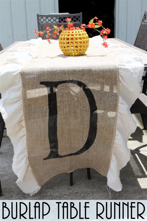 diy burlap table runner favecraftscom
