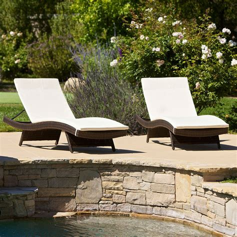 Chaise Lounge Pool Chairs by Set Of 2 Outdoor Patio Pool Adjustable Wicker Chaise