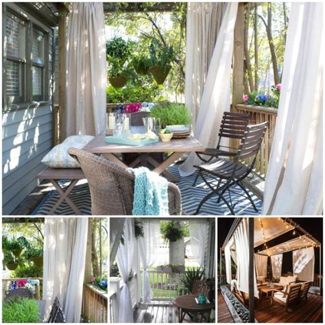 idee decoration maison en   rideau veranda