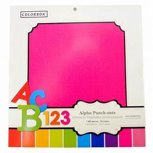 wholesale alpha scrapbook punch out letter number pages With punch out letters