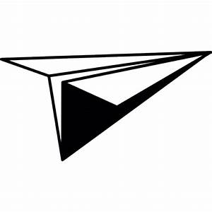 Paper plane, IOS 7 interface symbol Icons   Free Download