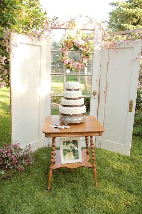 Vintage Cake Table Set Up Vintage Wedding Cake Blush