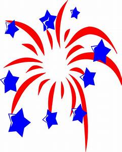 Red White And Blue Fireworks White Background | Clipart ...