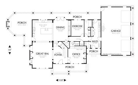 Main Floor Plan of Mascord Plan 2386 The Vicksburg