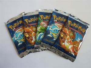 5x Pokemon Booster Pack, Starter Set, Dutch First Edition ...