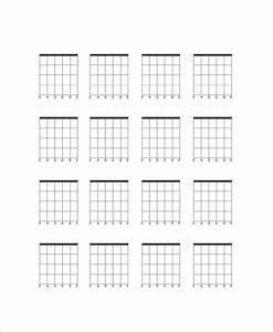 5  Blank Guitar Chord Charts