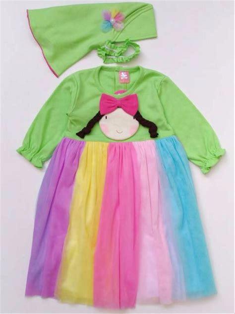 jual baju muslim anak bayi cewek perempuan gamis kaos tutu