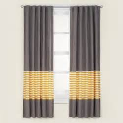 not a peep curtain panels yellow contemporary
