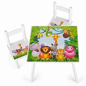 Kinder Tisch Mit Stühlen : tisch und 2 st hlen f r kinder motiv dschungel ~ Bigdaddyawards.com Haus und Dekorationen