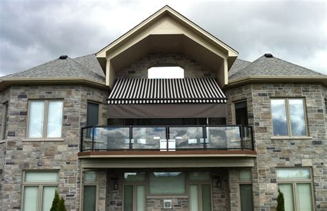 retractable awning   balcony   estate home rolltec retractable awnings toronto
