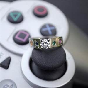 18 of the most geeky wedding rings linked for life guff With geek wedding rings