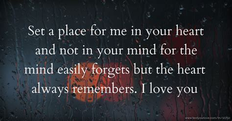 heart place mind