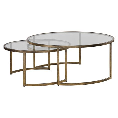 Uttermost Glass Coffee Tables by Uttermost Rhea Nested Coffee Tables Set Of Two On Sale