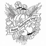 Hard Coloring Pages Thanksgiving Printable Print Getcolorings Draw Colorings sketch template