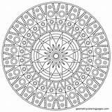 Sundial Drawing Coloring Mandala Getdrawings sketch template