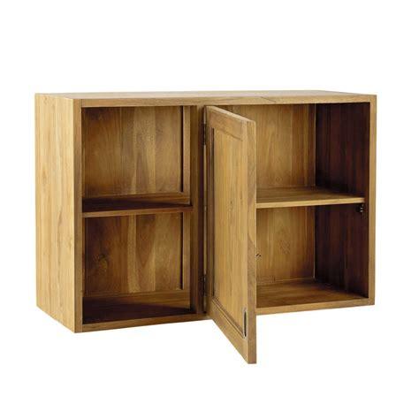 meubles de cuisine haut meuble haut d 39 angle de cuisine ouverture gauche en teck