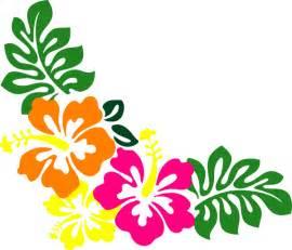 Hawaiian Hibiscus Flower Clip Art Borders