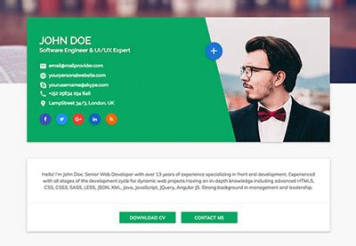 How To Write A Resume Website by 18 Best Html Resume Templates For Awesome Personal