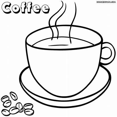Coffee Coloring Pages Cups Christmas Designlooter Colorings