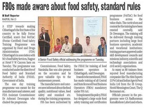 Newspaper Articles - Food Safety Services