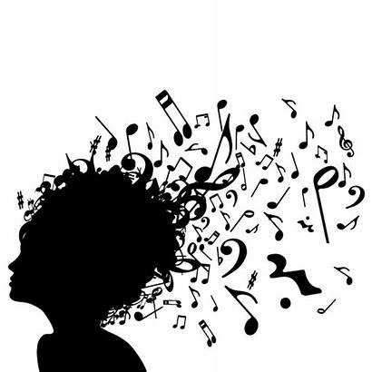 Silhouette Lyrics Clipart Notes Siluetas Blanco Musica