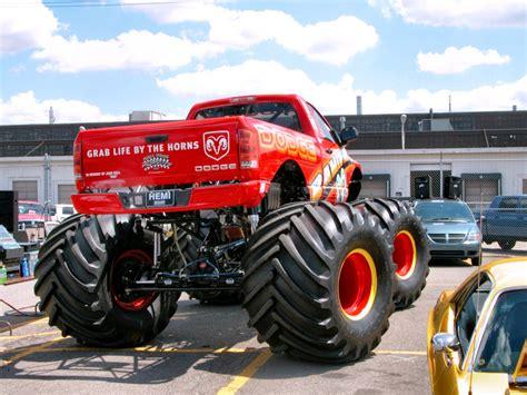 2005 Dodge Ram Monster Truck 1998 Dodge Big Red Truck