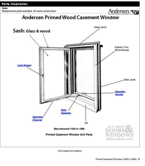 andersen primed casement window dual pane sash