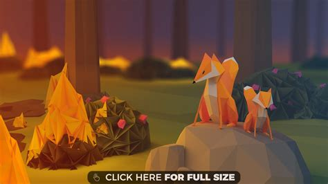 wallpaper fox low poly 3d poly wallpapers photos and desktop backgrounds up to 8k Wallp