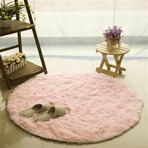 Cuisine Rose Poudré : tapis rond 120cm velours louna bureau cuisine rose achat vente tapis cdiscount ~ Melissatoandfro.com Idées de Décoration