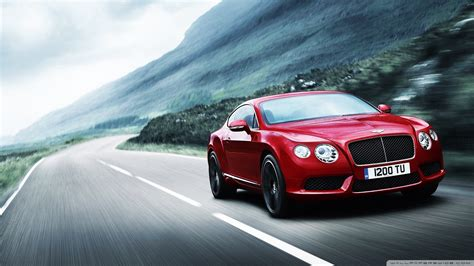 2012 Red Bentley Continental 4k Hd Desktop Wallpaper For