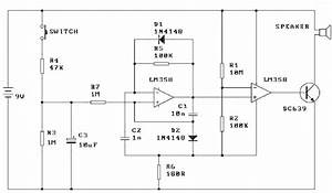 World Technical  Siren Alarm Circuit Diagram Usng Lm358