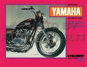 1974 1975 Yamaha Xs650 Tx650 Shop Manual Cycleserv Xs Tx 650 Repair Service Book