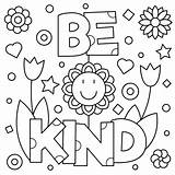 Coloring Kind Printable Kindness Sheets Choose Nett Adult Illustrazione Gentile Sia Coloritura Vettore Pagina Quarantine Colouring Auch Seien Farbtonseite Sie sketch template