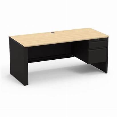 Desk Right Teacher Pedestal Rectangle Furniture