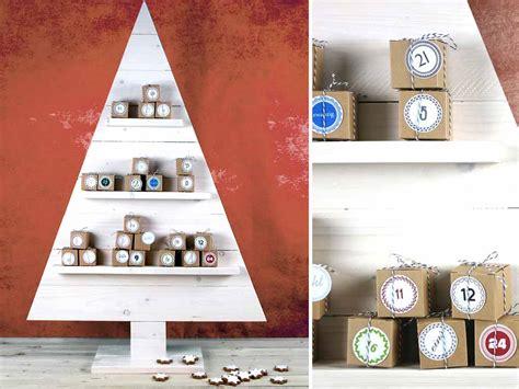 weihnachtsbaum basteln diy adventskalender kellerherz