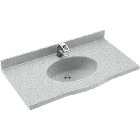 swanstone sinks at menards swan europa 22 quot x 43 quot solid surface vanity top at menards 174