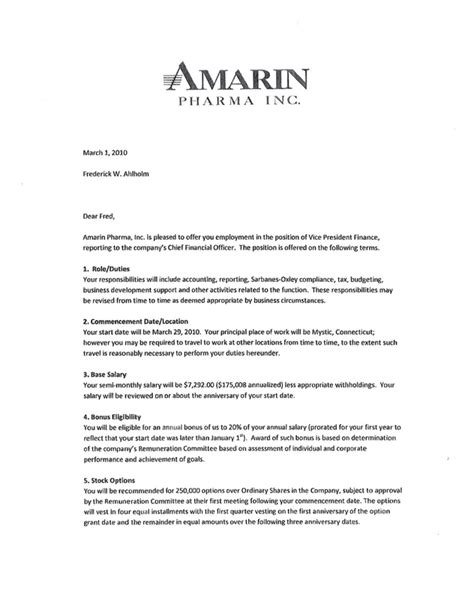 employment offer letter format  word