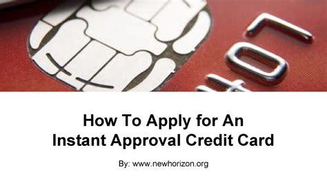 Are they even credit cards? How to Apply for an Instant Approval Credit Card  authorSTREAM
