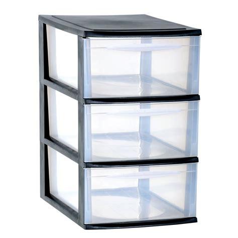tiroir de rangement en plastique eda plastiques module de rangement module a4 3 tiroirs grand mod 232 le noir caisse de rangement
