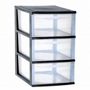 Tiroir De Rangement : eda plastiques module de rangement module a4 3 tiroirs grand mod le noir caisse de rangement ~ Teatrodelosmanantiales.com Idées de Décoration
