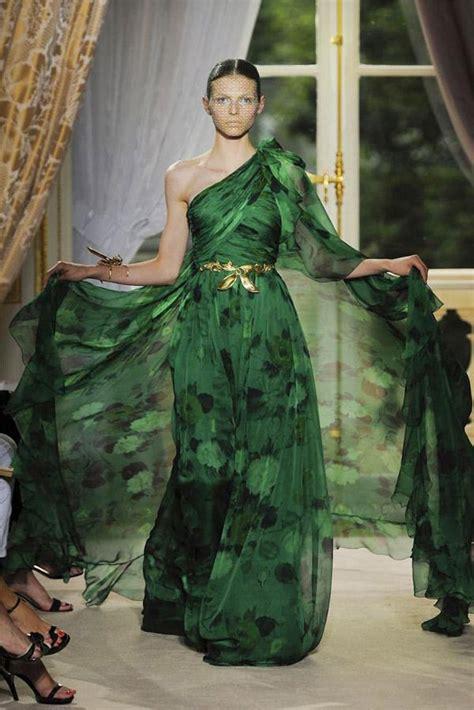 giambattista valli haute couture green prom dress