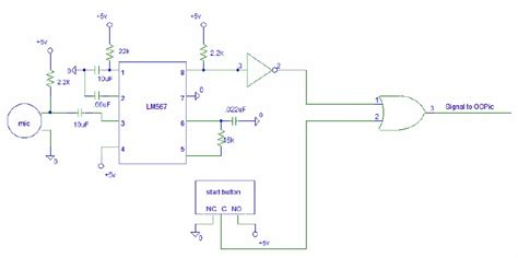 Tone Detector Sound Activated Switch Circuit Schematic