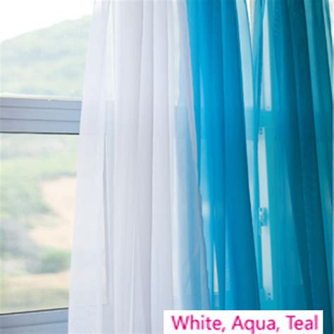 aqua sheers voile silk sheer curtains