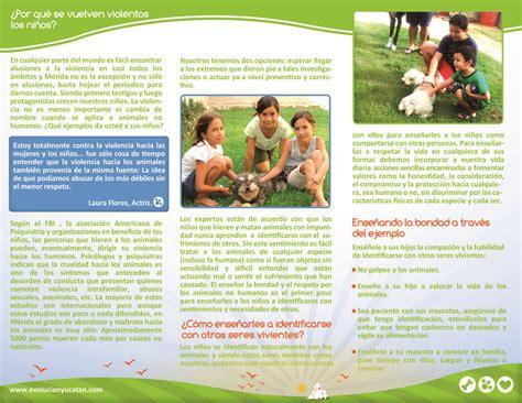 ejemplos de folletos para nios imagui ninos evoluci 243 n animal a c