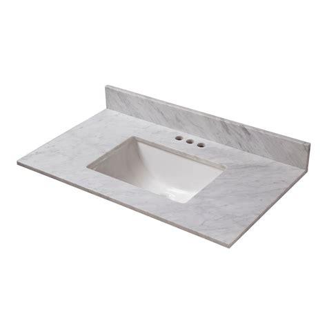 19 Inch Bathroom Vanity Top by Glacier Bay 31 Inch W X 19 Inch D Carrara Marble Vanity