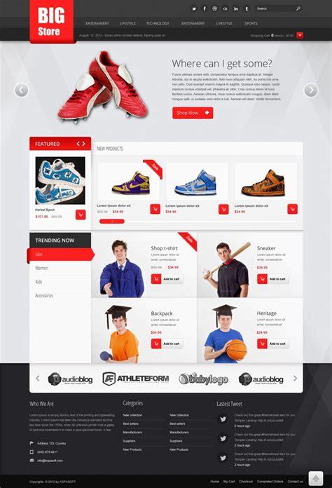 free ecommerce website free ecommerce web templates psd 187 css author