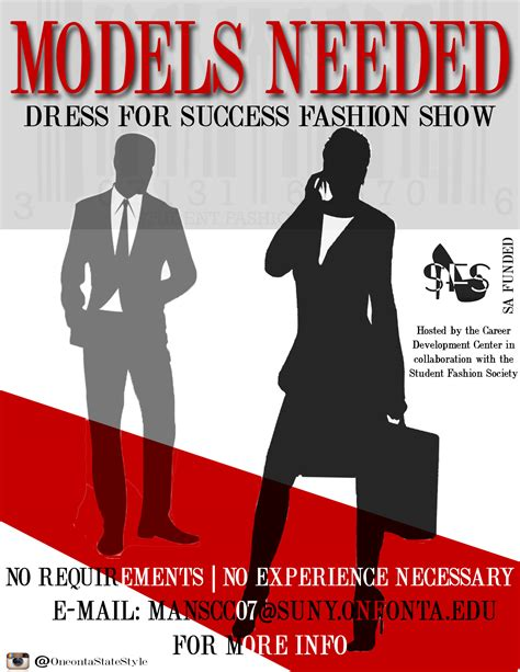 models needed  dress  success fashion show